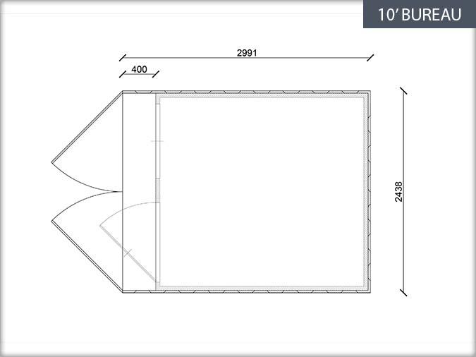 Bung 39 eco fiche technique containers bureaux for Fenetre 90x120