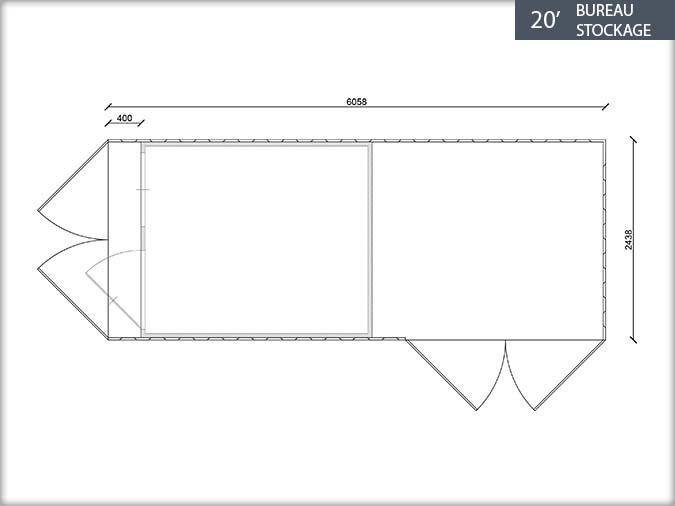 Bung 39 eco fiche technique containers bureau stockage for Fenetre 90x120